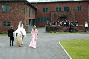 Bruden til hest på Midtåsen i Sandefjord