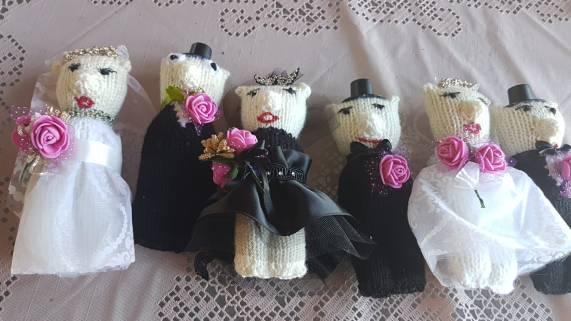 strikket brudepar 2 - gerd