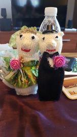 strikket brudepar - gerd